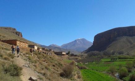 Traversée d'un village berbère